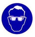 Sticker oogbescherming